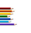 color pencils on left of blank background vector image vector image