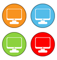 Computer button set vector image