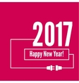 Connecting to the new year 2017 vector image vector image