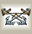 crossed anchors vector image vector image