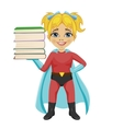 cute little girl wearing superhero costume vector image vector image