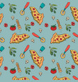 delicious italian food pattern background