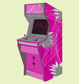 eighties video game machine vector image