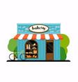 facade of a bakery shop flat design modern vector image vector image