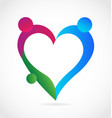 family people loving heart icon vector image vector image