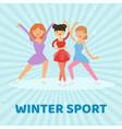 figure skate winter sport vector image
