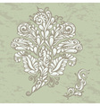 Floral design element renaissance style vector image vector image