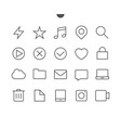 general ui pixel perfect well-crafted thin vector image vector image