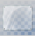glass empty plate vector image vector image