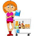 go shopping vector image