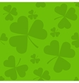Green seamless clover leaves vector image vector image