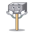 grinning hammer cartoon for tenderizer the meat vector image vector image