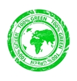 Grunge green stamp vector image vector image