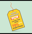 happy shopping big discount offer tag style banner vector image vector image