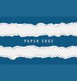 Horizontal torn paper edge ripped squared