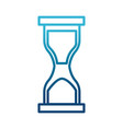 hourglass sandtime isolated vector image vector image
