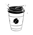 ink disposable paper cup vector image