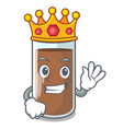 king the delicious on chocolate milk cartoon vector image vector image