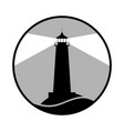 lighthouse black vector image vector image