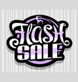 logo for flash sale vector image vector image