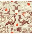 love birds seamless pattern vector image