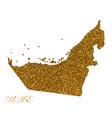 map united arab emirates silhouette vector image