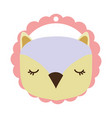 owl only face vector image