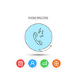 phone icon call ringtone sign vector image