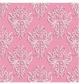 Pink Seamless Background with 3d Floral Pattern vector image