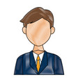 portrait of a young business man character on vector image vector image