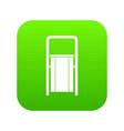 public garbage bin icon digital green vector image vector image