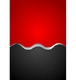 Red black contrast background with metal wave vector image vector image