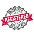 registered stamp sign seal vector image vector image