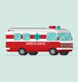 retro ambulance car vector image vector image