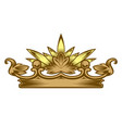 royal attribute golden crown vector image vector image
