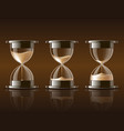 Sand falling in the hourglass
