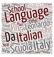 Scuola Leonardo Da Vinci Announces The New Last vector image vector image