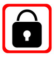 security icon flat design vector image vector image