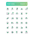 set of 30 line icons finance vector image