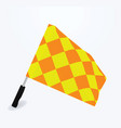 soccer referee flag vector image