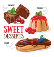 sweet desserts vector image vector image