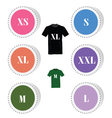 t-shirt button color vector image