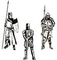 Three Medieval Knights vector image