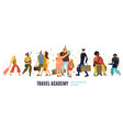 travel academy vector image vector image