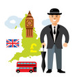 united kingdom travel concept flat style vector image vector image