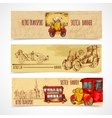 Vintage Transport Banners vector image vector image