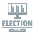 vote stats logo simple gray style vector image vector image