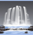 waterfalls realistic transparent background vector image vector image