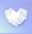 winter background a abstract flat snowflake vector image vector image