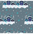 Winter Seamless Houses vector image vector image